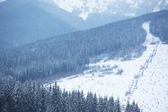 スキーリゾートの風景