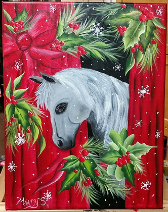 Holiday Horse Canvas