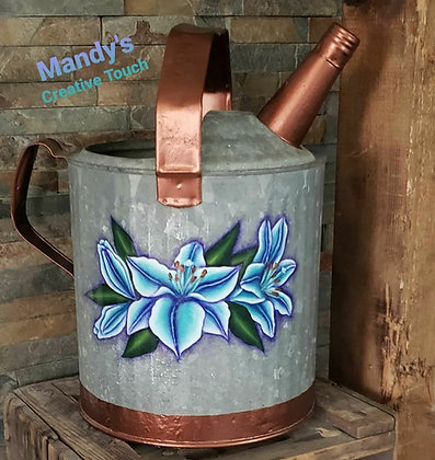 Rustic Lily Watering Can