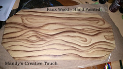 faux wood painted