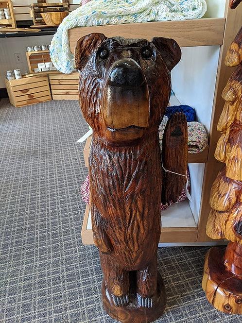 Chainsaw Carved Walnut Waving Bear