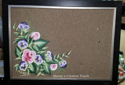 Hand painted cork board