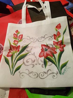 Shopping bag - White Gladiolas