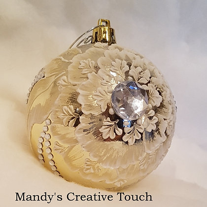 Gold Textured Ornament
