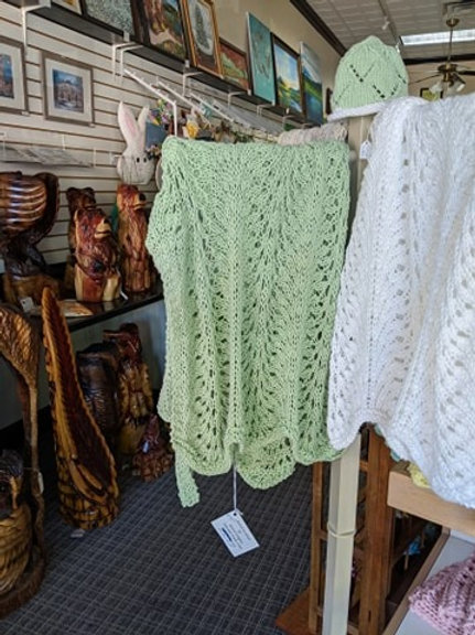 Knitted Green Baby Blanket