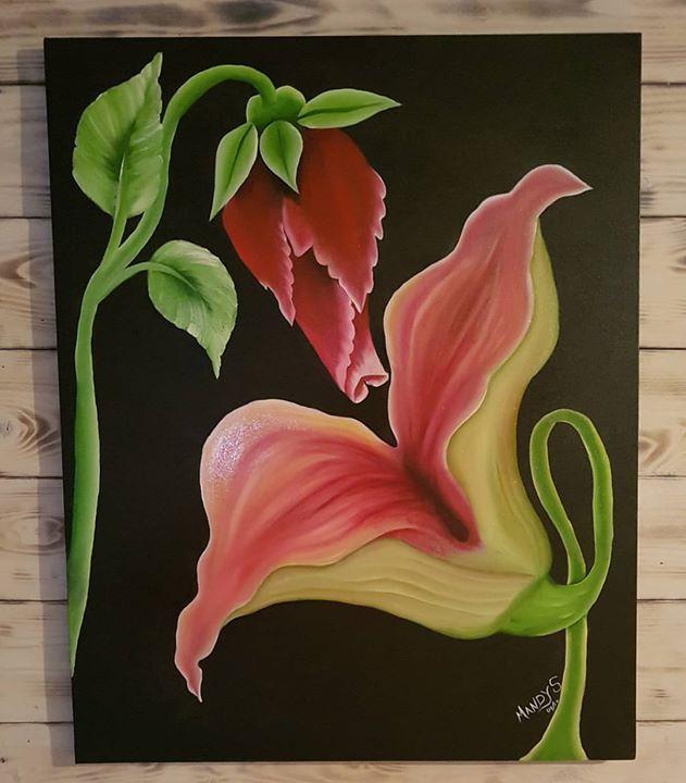 All done 😁_#onestroke #onemove #doubleloading #mandysonestroke  #onestrokearmy #artclasses #pinkflo