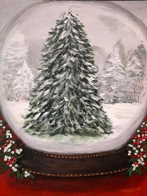 "Oil Painting-""Snow Globe"" by Jenny Jones"