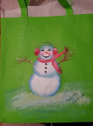Shopping Bag - Green Snowlady