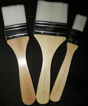 3 pc White Bristle Brush Set
