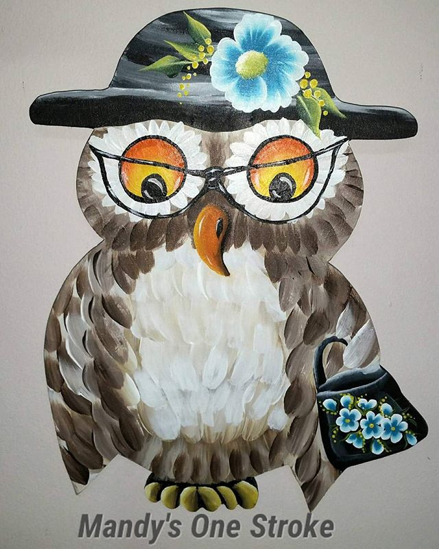 A Granny Owl I was ask to do for one of my client's granddaughter bedroom  Blue to match her new bed