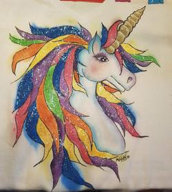 unicorn with glitter