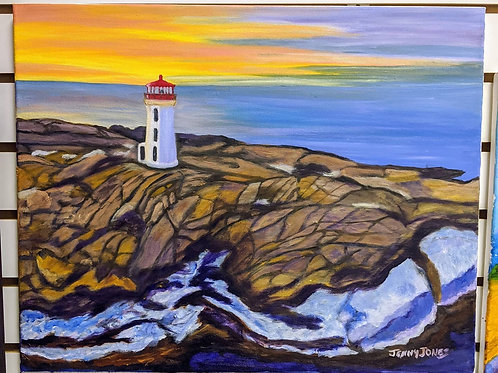 "Oil Painting-""Peggy's Cove in Nova Scotia"" by Jenny Jones"