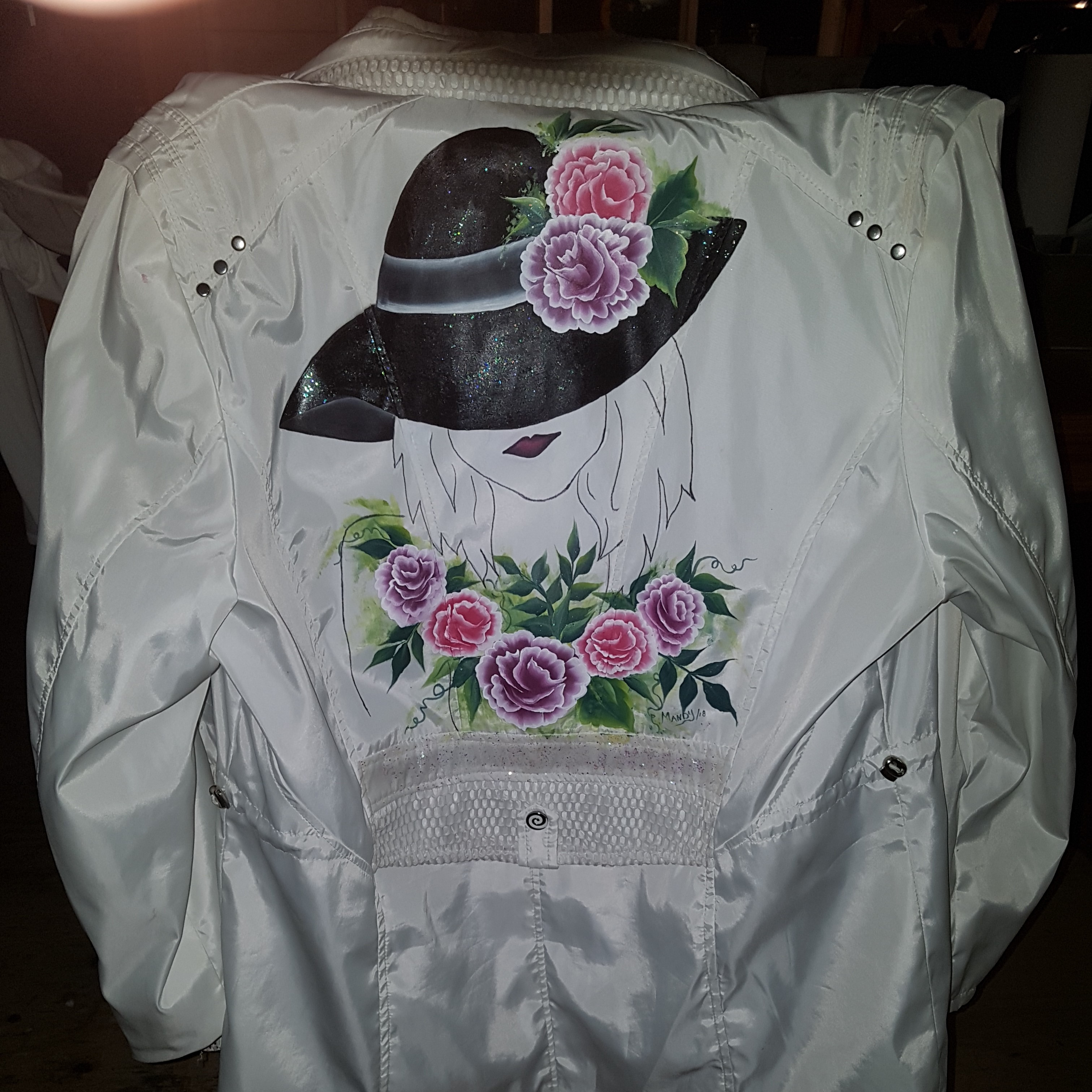 spring jacket hand painted