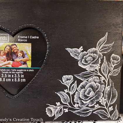 2 Heart Picture Frames - Rose garden
