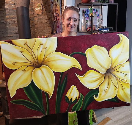 Oversized Lilies Painting