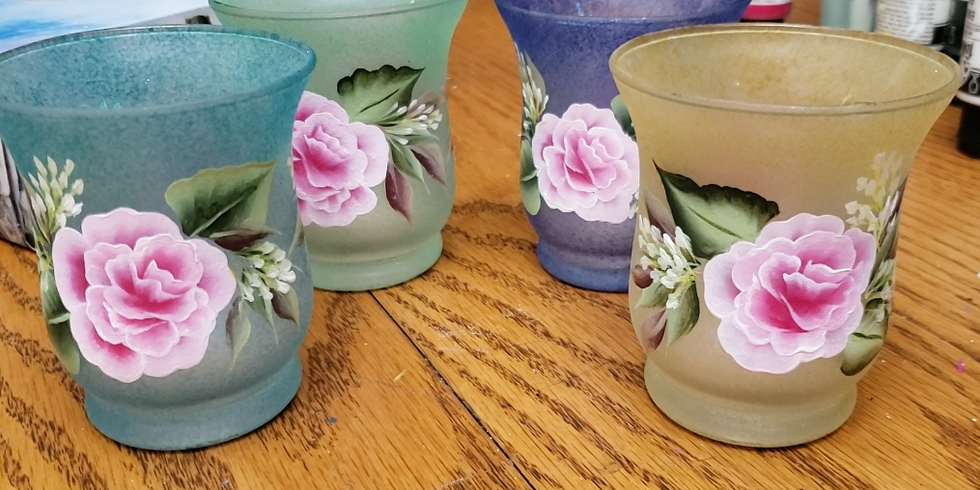 Rose Frosted Vases