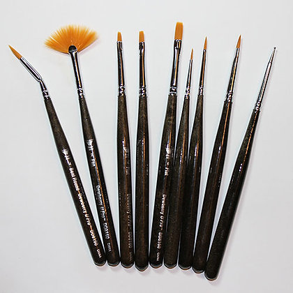 9 pc Pro Mini Brush Set