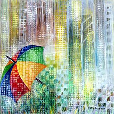 מטריה ברוח