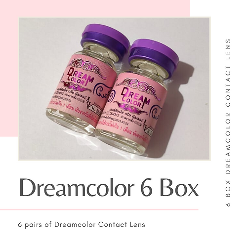 DREAMCOLOR CONTACT LENS 6 BOX VALUE SET