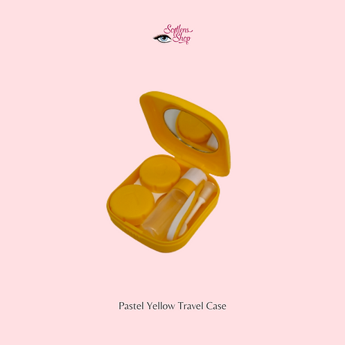 PASTEL YELLOW CONTACT LENS TRAVEL CASE