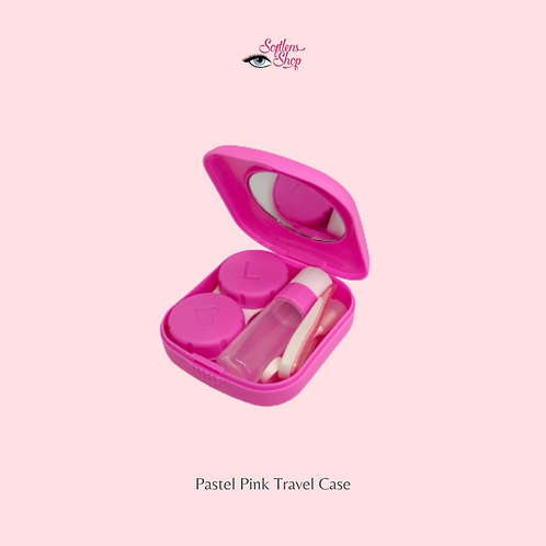 PASTEL PINK CONTACT LENS TRAVEL CASE