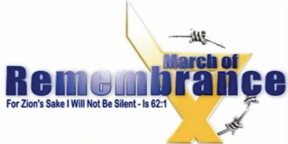 Sunday April 11, 2021  Holocaust Memorial Day – March of Remembrance