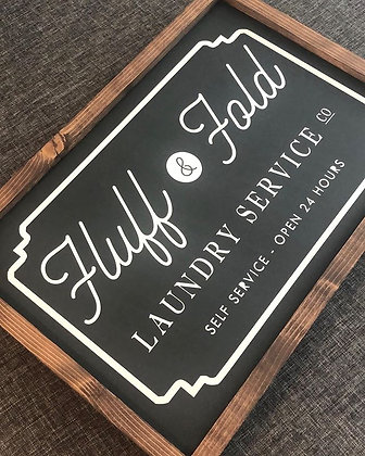Fluff & Fold Laundry Room Sign