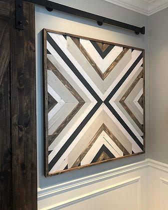 Wood Mosaic Sign