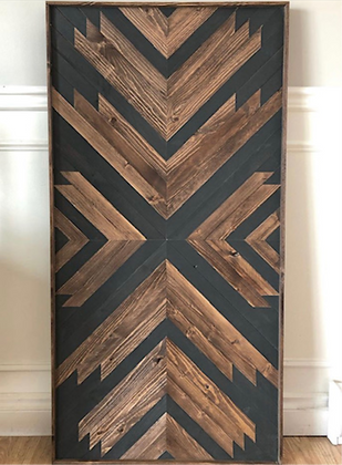 Black & Walnut Mosaic Wall Art/Headboard