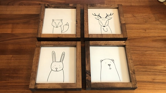 "Set of 4 ""Forest Friends"""