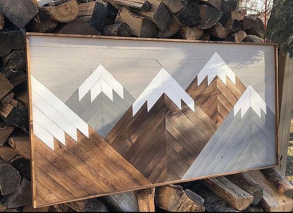 Mountain Mosaic - Grey Sky