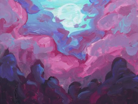 Moon, Artwork by Mags Quinn
