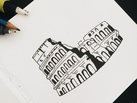 """Rome Colosseum,"" Artwork by Mary Silva"