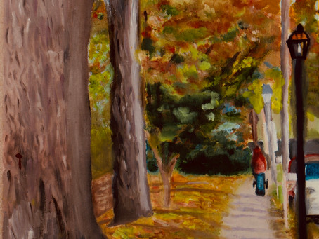 """""""Falling Leaves in Autumn"""" and """"Light and Shadow,"""" Artwork by Jacqueline Wu"""