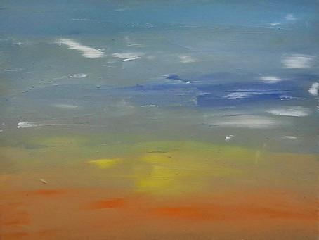 """""""Sunrise"""" & """"Sunset,"""" Artwork by Labdhi Shah"""