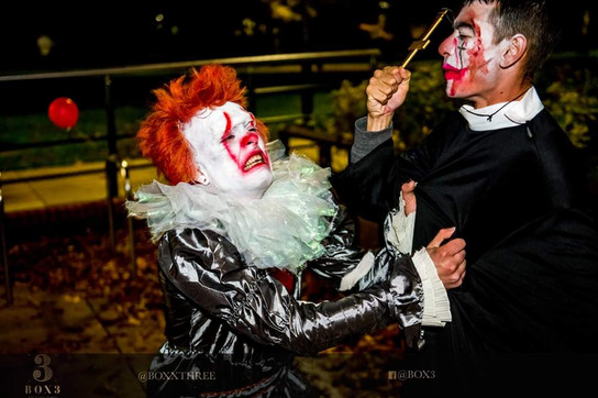 Pennywise makeup for BoxThree
