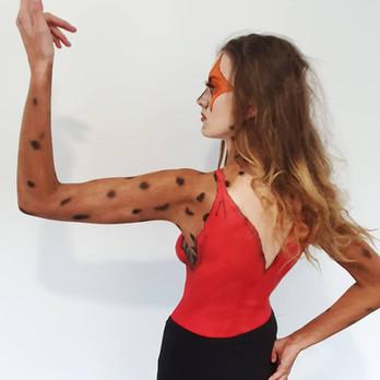 Cheetara body paint college assessment