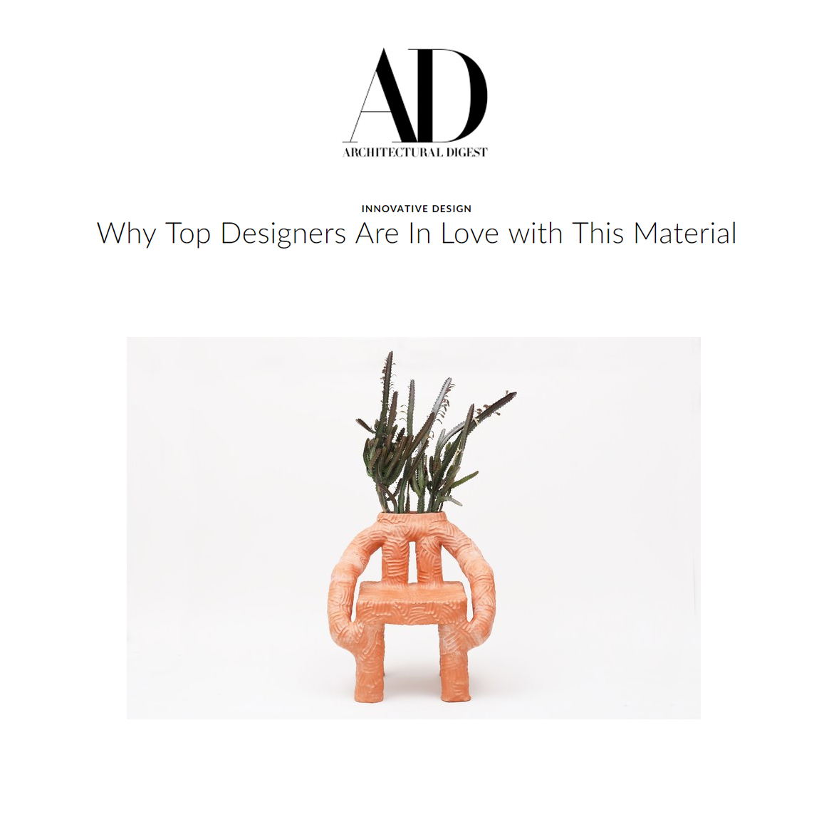 Architectural Digest 2018 Abril