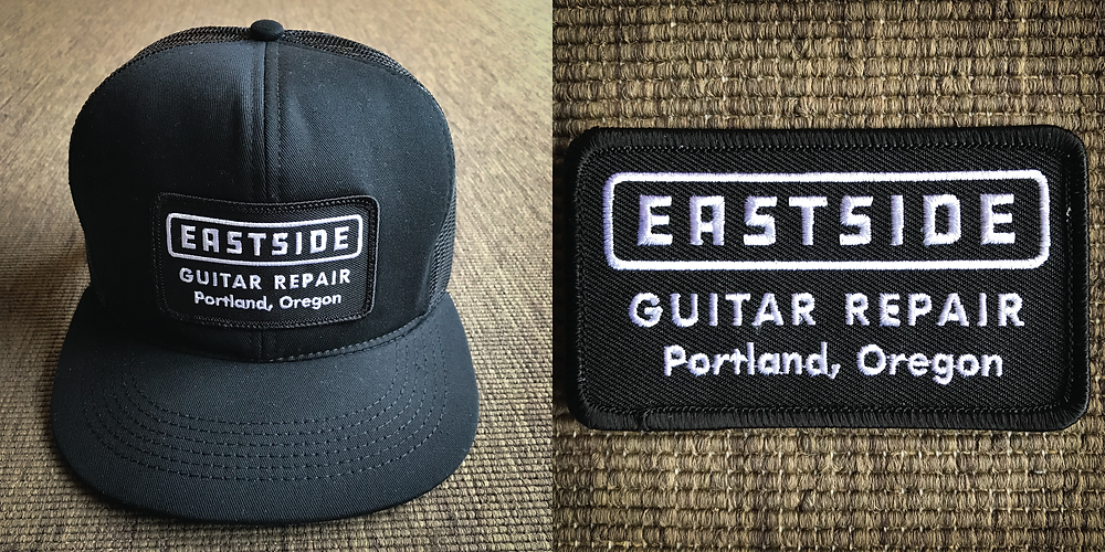 Eastside Guitar Repair hat and patch