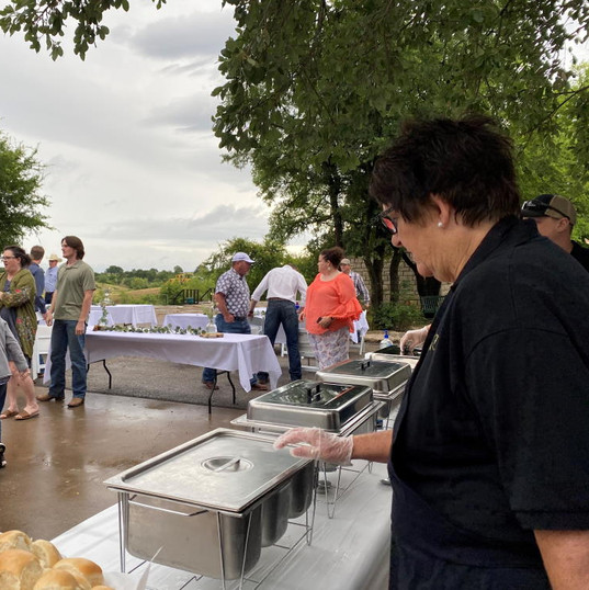 Catering - Wedding Food on Table Outdoor