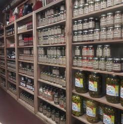 Merchandise Shelves Jars