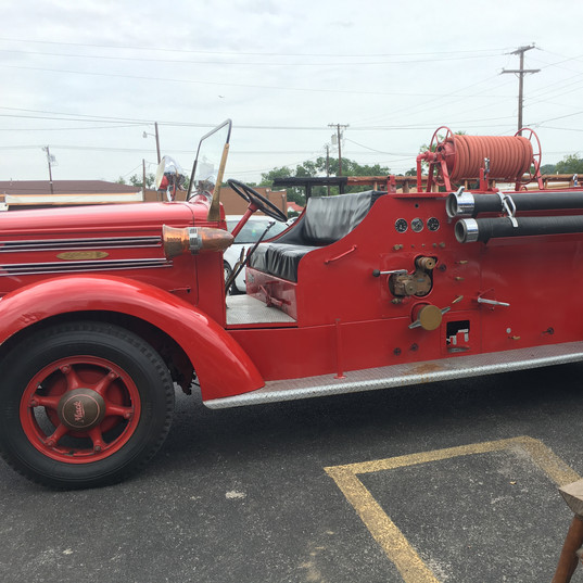 Old Fashioned Fire Truck Sideview