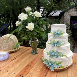 Catering - Wedding Cake on Table Outdoor