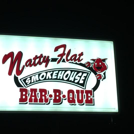 Natty Flat Smokehouse Bar-B-Que Outdoor Lighted Sign