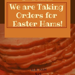 We are Taking Orders for Easter Hams