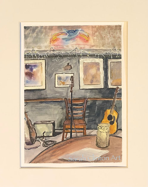 Front and Center at the Bluebird (Print)