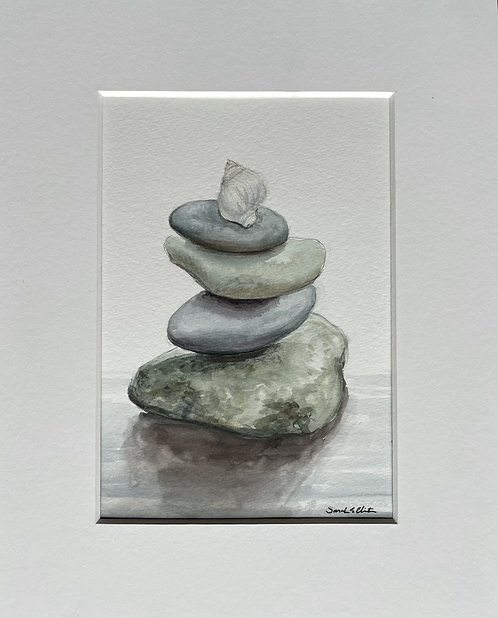 Rock stack - and a shell on top