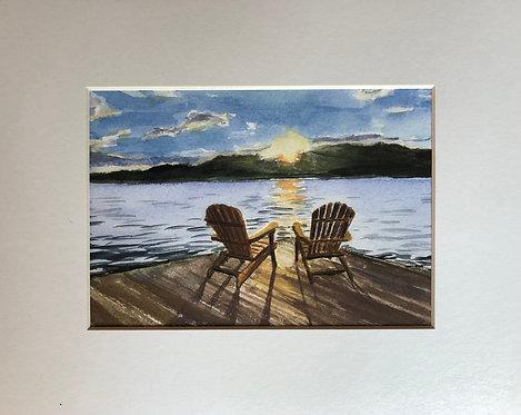 Sunset after a storm (print)