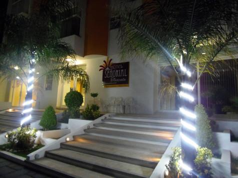 Hotel Señorial Tlaxcala de noche
