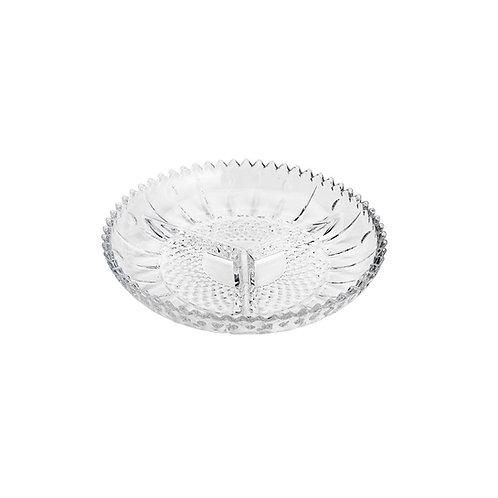 Petisqueira de Cristal 3 Divisões Glory 22cm - Lyor